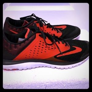 Red and Black Nike Men's Shoes